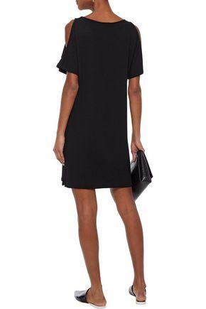 MONROW Cold-shoulder terry dress