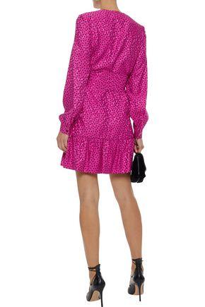 VANESSA SEWARD Flora printed silk-jacquard mini dress