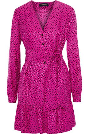 VANESSA SEWARD Flora printed silk-jacquard mini dress
