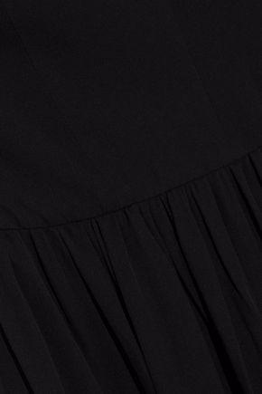 L'AGENCE Valetta cutout silk-chiffon mini dress