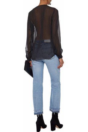 L'AGENCE Tabitha ruffled printed silk-georgette blouse