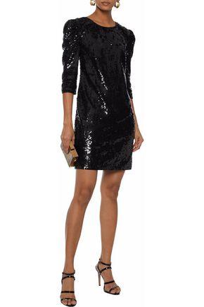 L'AGENCE Sarah sequined satin mini dress