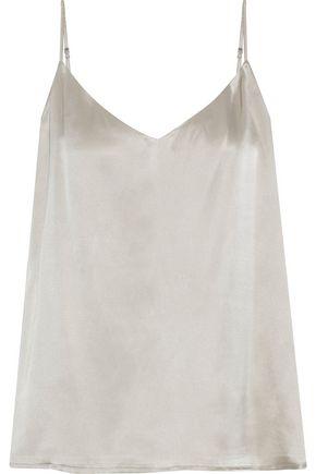 L'AGENCE Silk-charmeuse camisole