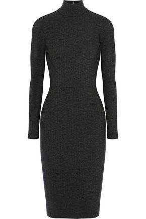 FLEUR DU MAL Open-back cutout stretch-knit turtleneck dress