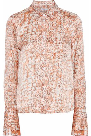 EQUIPMENT Huntley printed silk-satin shirt