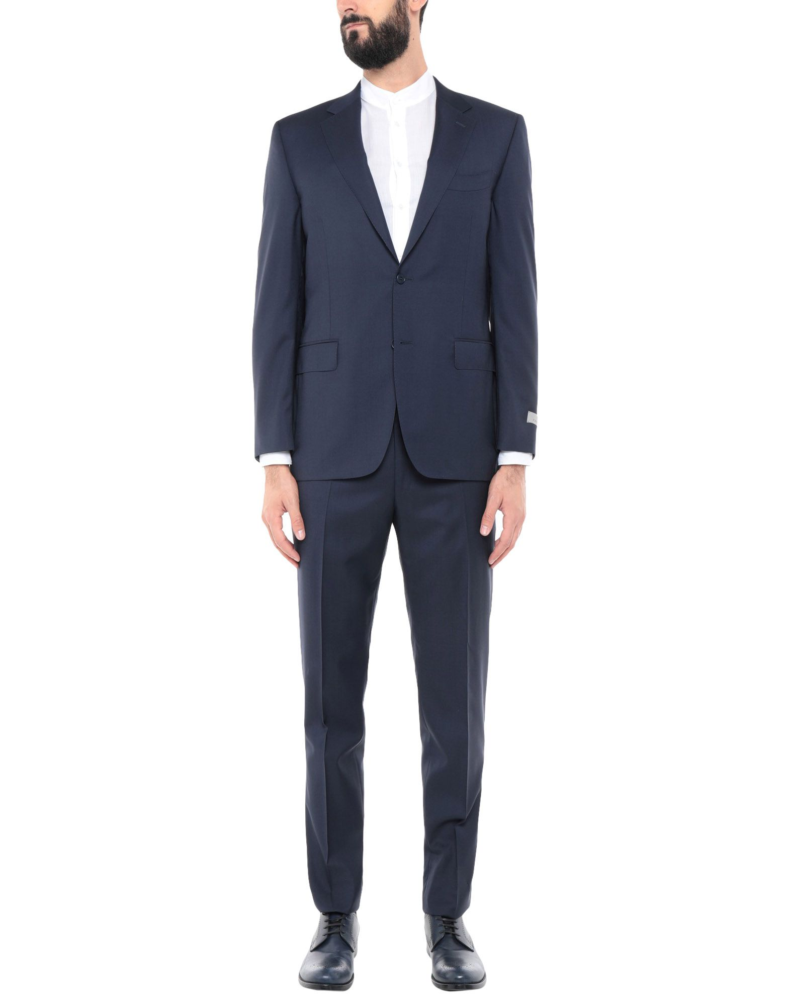 《送料無料》CANALI メンズ スーツ ダークブルー 56 ウール 100%