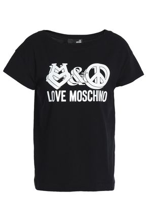LOVE MOSCHINO Printed cotton-blend T-shirt