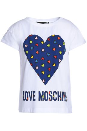 LOVE MOSCHINO Printed cotton-blend jersey T-shirt
