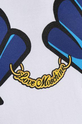 LOVE MOSCHINO Printed modal-blend jersey T-shirt