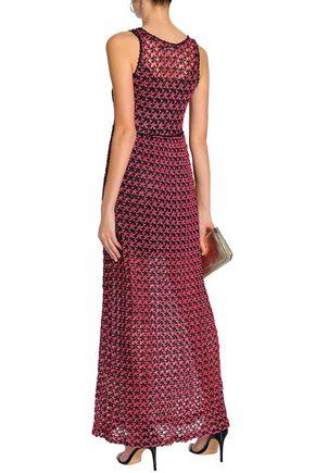 LOVE MOSCHINO Crochet-knit maxi dress