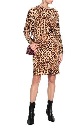 NORMA KAMALI Leopard-print jersey dress