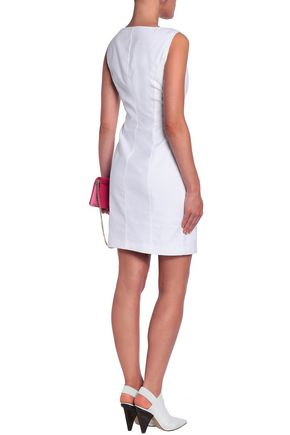 LOVE MOSCHINO Stretch-cotton jacquard mini dress