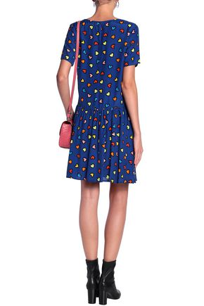 LOVE MOSCHINO Printed woven mini dress