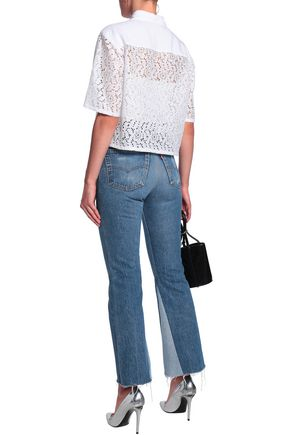 LOVE MOSCHINO Paneled lace shirt