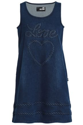 LOVE MOSCHINO Denim mini dress