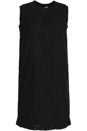 LOVE MOSCHINO Cotton broderie anglaise mini dress