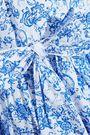 CAROLINE CONSTAS Gisele off-the-shoulder printed cotton-poplin dress