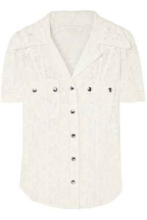 CHLOÉ Cotton-blend lace shirt