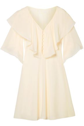 CHLOÉ Silk crepe de chine mini dress