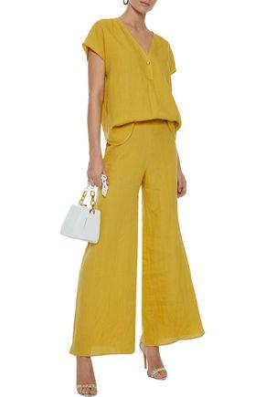 SIMON MILLER Fayette oversized linen blouse