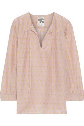 BAUM UND PFERDGARTEN Mollie printed cotton and silk-blend blouse