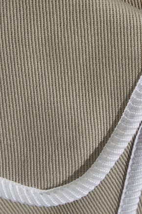 FENDI Pleated cotton-twill shorts