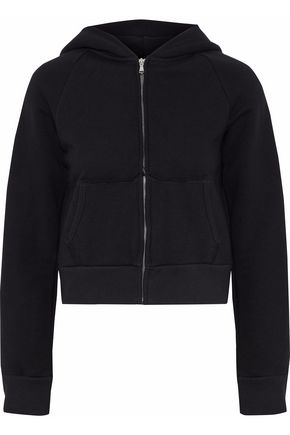 SIMON MILLER French cotton-terry hooded sweatshirt