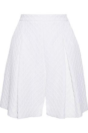 EMILIA WICKSTEAD Harpel pleated jacquard shorts
