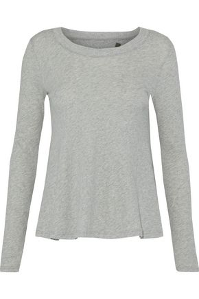 ENZA COSTA Cotton and cashmere-blend jersey top