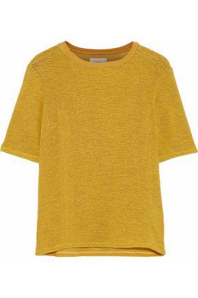 SIMON MILLER Enna waffle-knit cotton-blend top