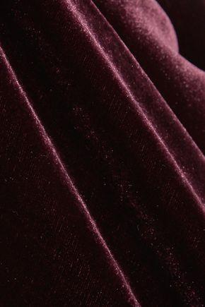 CUSHNIE Juno cape-effect velvet jumpsuit