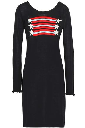SONIA RYKIEL Intarsia silk and cotton-blend mini dress