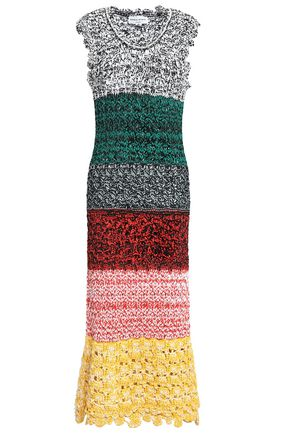 SONIA RYKIEL Pointelle-knit midi dress