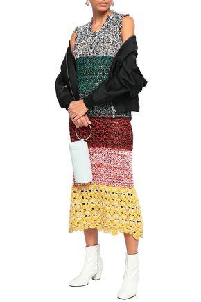 SONIA RYKIEL Pointelle-knit midi dress