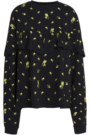 McQ Alexander McQueen Embroidered cotton and modal-blend terry sweatshirt