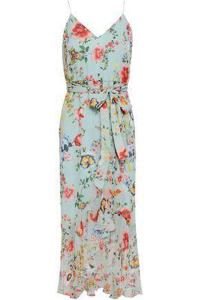 ALICE + OLIVIA Floral-print silk-chiffon dress