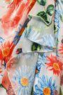 ALICE + OLIVIA Floral-print devoré-velvet wrap dress
