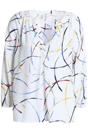 JOIE Addie B printed crepe blouse