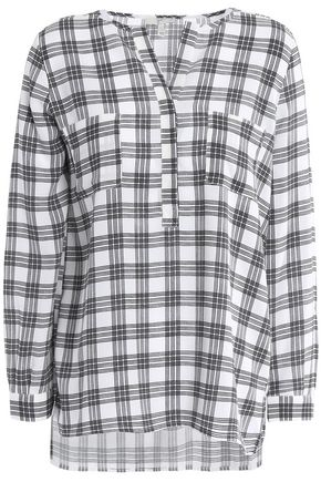 JOIE Nepal checked crepe blouse