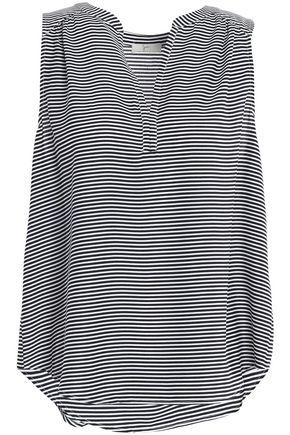 JOIE Kotahi striped crepe top