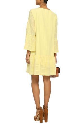 VANESSA SEWARD Ribbed cotton-blend mini dress
