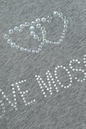 LOVE MOSCHINO Embellished cotton-jersey T-shirt