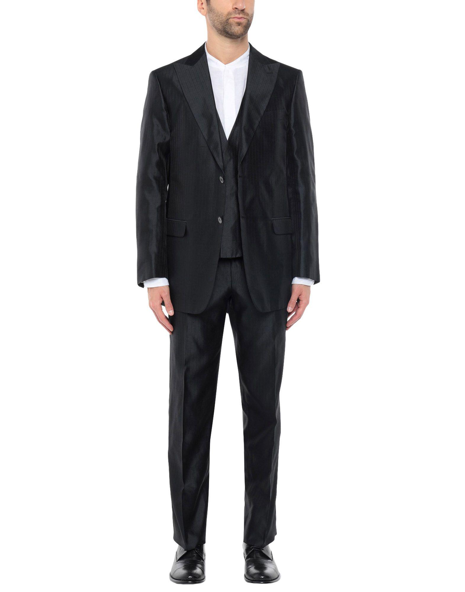 《セール開催中》PAL ZILERI CERIMONIA メンズ スーツ ブラック 52 シルク 100%