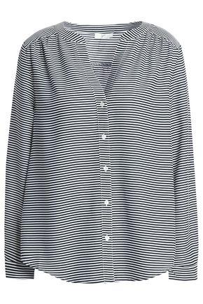 JOIE Kira striped crepe blouse