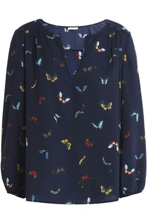 JOIE Odelette printed crepe blouse