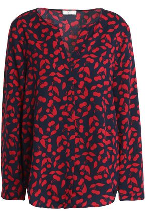 JOIE Purine printed crepe blouse