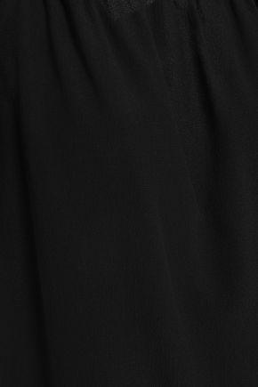 VANESSA SEWARD Off-the-shoulder ruffled crepe top