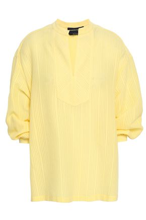 VANESSA SEWARD Ribbed cotton-blend blouse