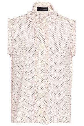 VANESSA SEWARD Ruffle-trimmed printed cotton top