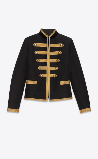 Officer jacket with gold passementerie braiding
